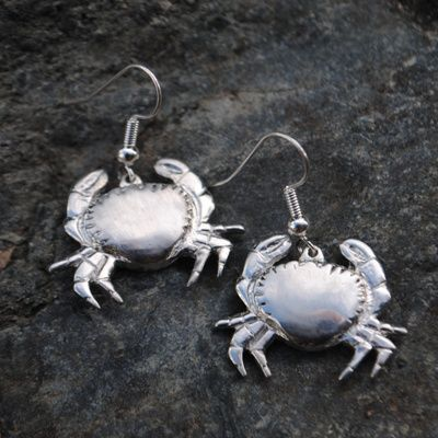 Crab earrings E91
