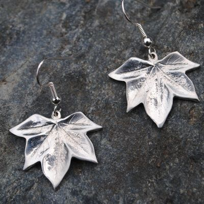 Sycamore leaf earrings E89